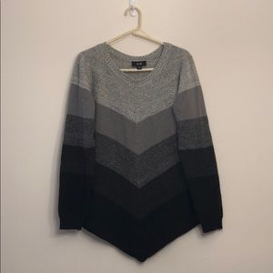 Black and Grey Striped Sweater